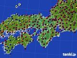 2017年05月23日の近畿地方のアメダス(日照時間)