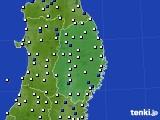 2017年05月29日の岩手県のアメダス(風向・風速)