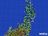 東北地方のアメダス実況(日照時間)(2017年06月02日)