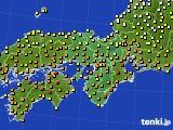2017年06月10日の近畿地方のアメダス(気温)