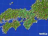 2017年06月16日の近畿地方のアメダス(気温)