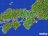 2017年06月21日の近畿地方のアメダス(気温)