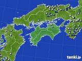 四国地方のアメダス実況(降水量)(2017年06月25日)