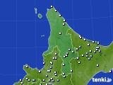 道北のアメダス実況(降水量)(2017年06月25日)
