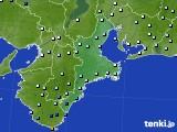 三重県のアメダス実況(降水量)(2017年06月25日)