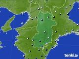 奈良県のアメダス実況(降水量)(2017年06月25日)