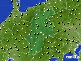 長野県のアメダス実況(気温)(2017年06月25日)