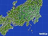 関東・甲信地方のアメダス実況(風向・風速)(2017年06月26日)