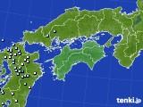 四国地方のアメダス実況(降水量)(2017年07月06日)
