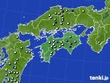 四国地方のアメダス実況(降水量)(2017年07月08日)