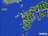 九州地方のアメダス実況(日照時間)(2017年07月08日)