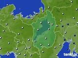 2017年07月19日の滋賀県のアメダス(風向・風速)