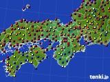 近畿地方のアメダス実況(日照時間)(2017年07月20日)