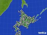 北海道地方のアメダス実況(風向・風速)(2017年07月22日)
