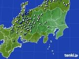 関東・甲信地方のアメダス実況(降水量)(2017年07月23日)