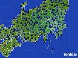 関東・甲信地方のアメダス実況(日照時間)(2017年07月23日)