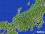 北陸地方のアメダス実況(風向・風速)(2017年07月25日)