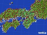 2017年08月03日の近畿地方のアメダス(気温)