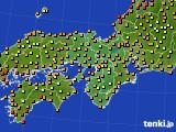 2017年08月07日の近畿地方のアメダス(気温)