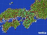 2017年08月11日の近畿地方のアメダス(気温)