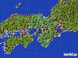 2017年08月13日の近畿地方のアメダス(気温)