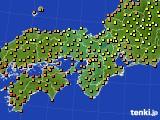 2017年08月15日の近畿地方のアメダス(気温)