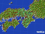 2017年08月16日の近畿地方のアメダス(気温)