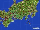 東海地方のアメダス実況(気温)(2017年08月17日)