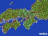 2017年08月18日の近畿地方のアメダス(気温)