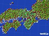 2017年08月22日の近畿地方のアメダス(気温)