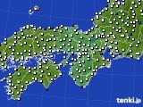 2017年08月27日の近畿地方のアメダス(風向・風速)