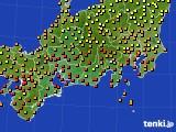 2017年08月30日の東海地方のアメダス(気温)
