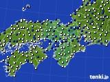 2017年08月31日の近畿地方のアメダス(風向・風速)