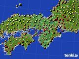 2017年09月01日の近畿地方のアメダス(気温)