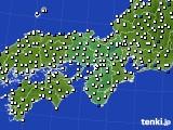2017年09月09日の近畿地方のアメダス(風向・風速)