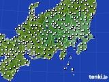 関東・甲信地方のアメダス実況(風向・風速)(2017年09月10日)