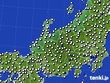 北陸地方のアメダス実況(風向・風速)(2017年09月10日)