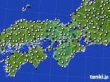 2017年09月11日の近畿地方のアメダス(風向・風速)