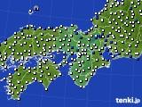 2017年09月14日の近畿地方のアメダス(風向・風速)