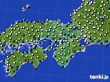 2017年09月17日の近畿地方のアメダス(風向・風速)