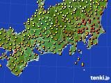 2017年09月18日の東海地方のアメダス(気温)