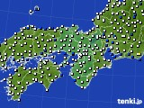 2017年09月18日の近畿地方のアメダス(風向・風速)