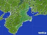 2017年09月18日の三重県のアメダス(風向・風速)