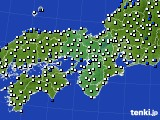 2017年09月19日の近畿地方のアメダス(風向・風速)