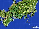 2017年09月20日の東海地方のアメダス(気温)