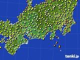 2017年09月22日の東海地方のアメダス(気温)