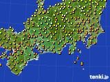 2017年09月25日の東海地方のアメダス(気温)