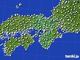 2017年09月25日の近畿地方のアメダス(風向・風速)