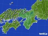 近畿地方のアメダス実況(降水量)(2017年09月27日)