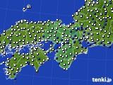 2017年09月28日の近畿地方のアメダス(風向・風速)